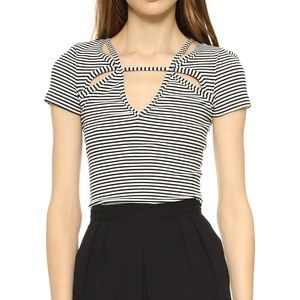 NWT Free People Frenchie Striped Top